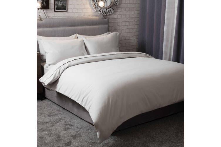 Belledorm Brushed Cotton Duvet Cover (Grey) (Kingsize)