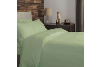 Belledorm Brushed Cotton Duvet Cover (Green Apple) (Superking)
