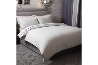 Belledorm Brushed Cotton Duvet Cover (Grey) (Double)