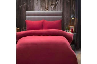 Belledorm Brushed Cotton Duvet Cover (Red) - UTBM305