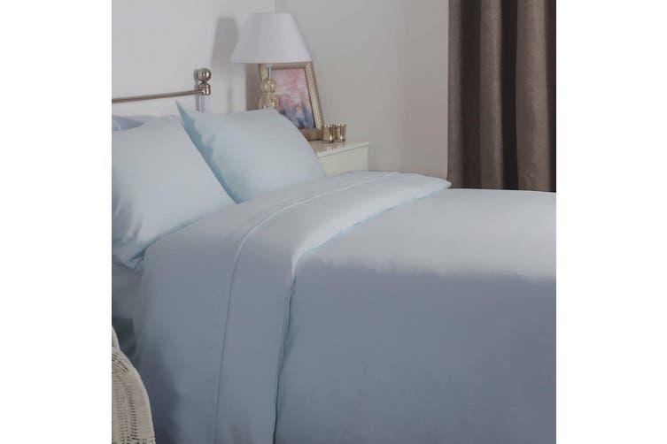 Belledorm Brushed Cotton Duvet Cover (Blue) (Double)