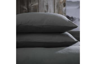 Belledorm Brushed Cotton Housewife Pillowcase (Pair) (Charcoal) (One Size)