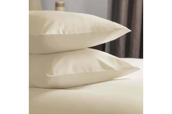 Belledorm Brushed Cotton Housewife Pillowcase (Pair) (Cream) (One Size)
