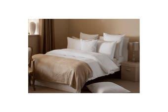 Belledorm Waffle Weave Cotton Duvet Cover Set (White) (Superking)