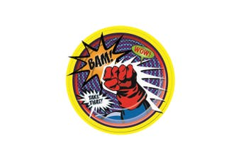 Bristol Novelty Super Hero Paper Plates (Pack Of 8) (Multicoloured) (Large)
