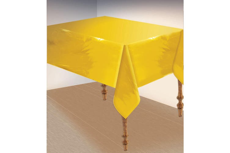Bristol Novelty Metallic Table Cover (Gold) (135x270cm)