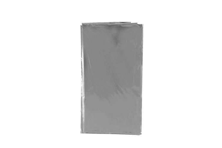 Bristol Novelty Metallic Table Cover (Silver) (135x270cm)