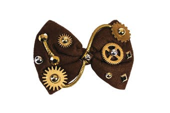 Bristol Novelty Unisex Steampunk Bow Tie (Bronze) (One Size)