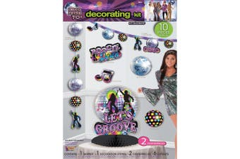 Bristol Novelty Disco Party Decorating Kit (10 Peices) (Multicoloured) (One Size)
