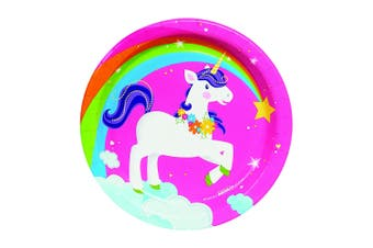 Bristol Novelty Fairytale Unicorn Paper Plates (Pack Of 8) (Pink) (S)