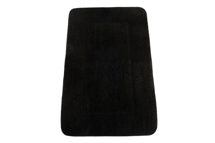 Mayfair Cashmere Touch Ultimate Microfibre Bath Mat (Black) (50x80cm)