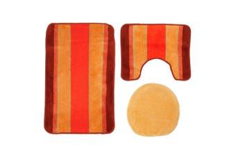Mediterraneo Stripe Bath Mat Set (3 Piece) (Rainbow) (One Size)