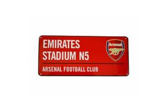 Arsenal Unisex Metal Street Sign (Multicoloured) (One Size)