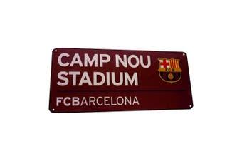 FC Barcelona Metal Street Sign (Maroon) (One Size)