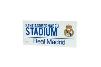 Real Madrid Street Sign (White/Blue) (40 x 18cm)