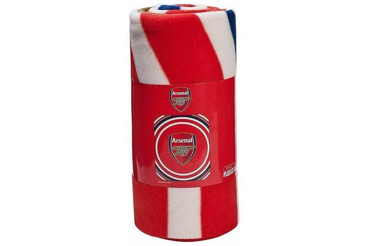 Arsenal FC Pulse Design Fleece Blanket (Red) (One Size)