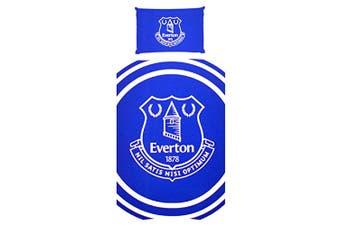 Everton FC Pulse Single Duvet Cover And Pillow Case Set (Blue) (One Size)