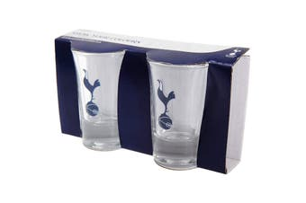 Tottenham Hotspur FC Home Word Mark Shot Glasses (Pack Of 2) (Clear) (One Size)