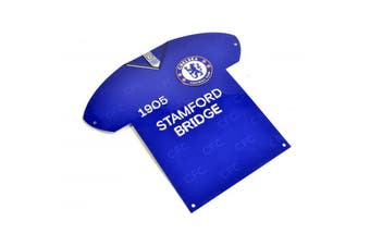 Chelsea FC Shirt Shaped Metal Sign (Blue) (One Size)