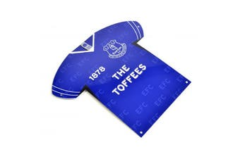 Everton FC Shirt Shaped Metal Sign (Blue) (One Size)