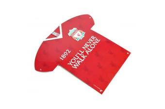 Liverpool FC Crest Metal Shirt Sign (Red) (One Size)