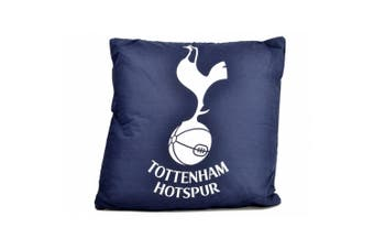 Tottenham Hotspur FC Official Football Crest Cushion (Navy/White) (One Size)