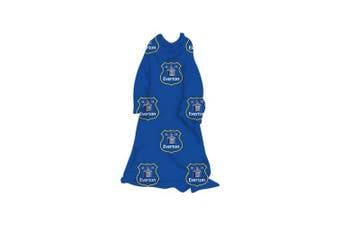 Everton FC Childrens/Kids Official Football Sleeved Fleece Blanket (Blue/White) (One Size)