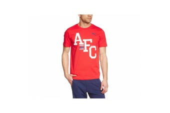 Puma Arsenal FC Official Mens AFC T-Shirt (Red) (S)
