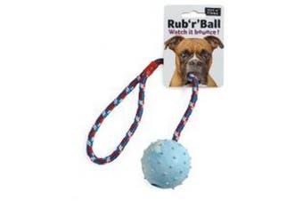 Ruff N Tumble Rub R Ball Rope & Ball Tug Dog Toy (May Vary) (One Size)