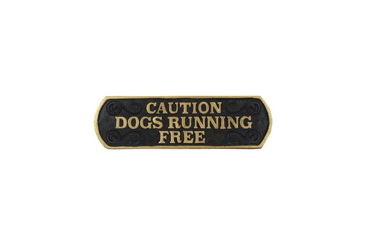 Best Pets Caution Dog Running Free Cast Iron Sign (May Vary) (24 x 7cm)