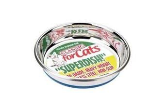 Classic Non Slip Cat Stainless Steel Superdish (Silver) - UTBT2812