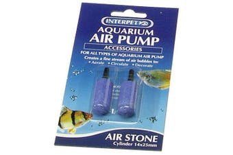 Interpet Aqua Air Stones (Pack Of 2) (May Vary) (One Size)