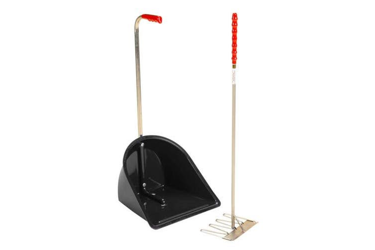 Stubbs Stable Mate Manure Collector With Long Handle Rake (Black) (One Size)