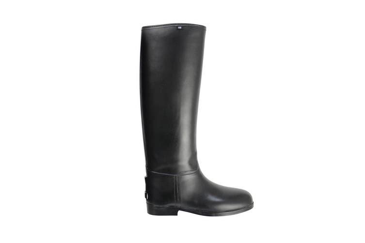 HyLAND Adults Long Greenland Waterproof Riding Boots (Black) (7 UK Standard)