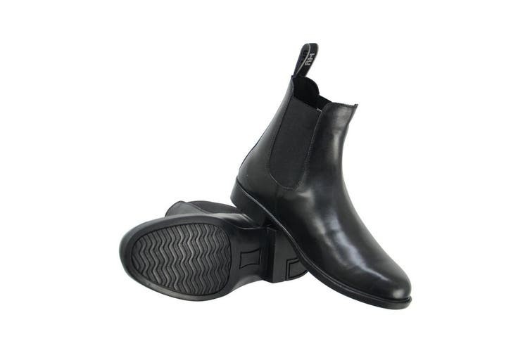 HyLAND Adults Melford Leather Jodhpur Boots (Black) (5 UK)