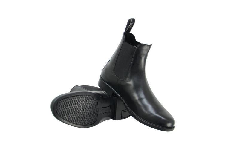HyLAND Adults Melford Leather Jodhpur Boots (Black) (7 UK)
