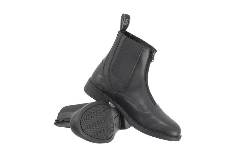 HyLAND Adults Southwold Leather Zip Paddock Boots (Black) (6 UK)