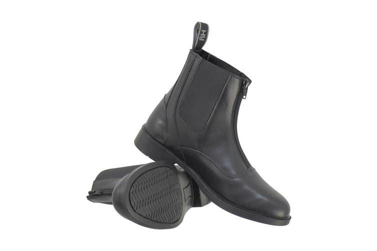 HyLAND Adults Southwold Leather Zip Paddock Boots (Black) (8 UK)