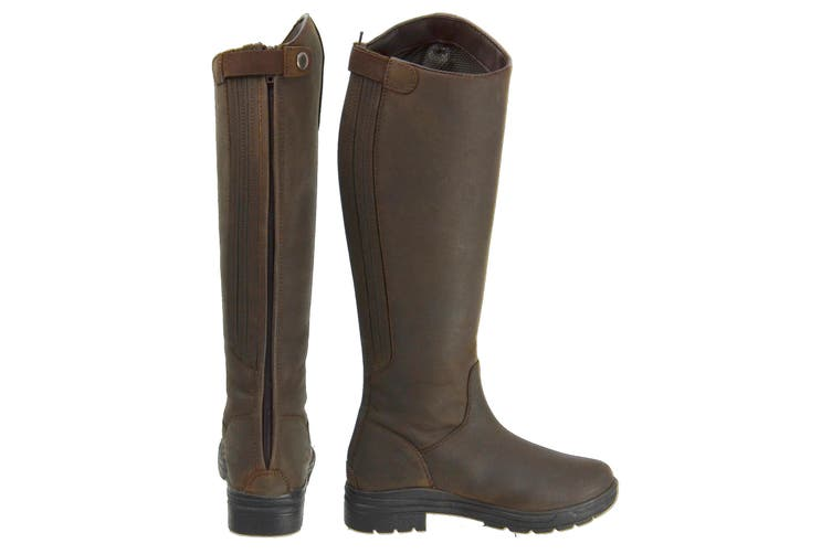 HyLAND Adults Waterford Winter Country Riding Boots (Dark Brown) (5 UK)