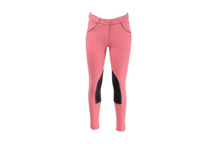 HyPERFORMANCE Childrens/Kids Darcy Diamante Mizs Jodhpurs (Coral/Brown) (24in)