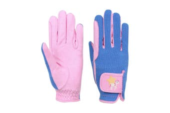 Little Rider Childrens/Kids Star in Show Riding Gloves (Prism Pink/Regatta Blue) (X-Large)
