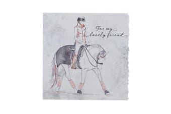 Deckled Edge Fanciful Dolomite Greetings Card (For My Lovely Friend - Horse and Rider (Multicoloured)) (One Size)