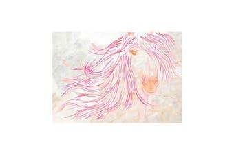 Deckled Edge A4 Watercolour Art Print (Sunset Mare) (21 x 29.7cm)