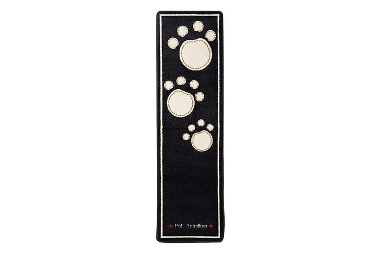 Pet Rebellion Dog Runner Barrier Rug (Black) (45 x 150cm)