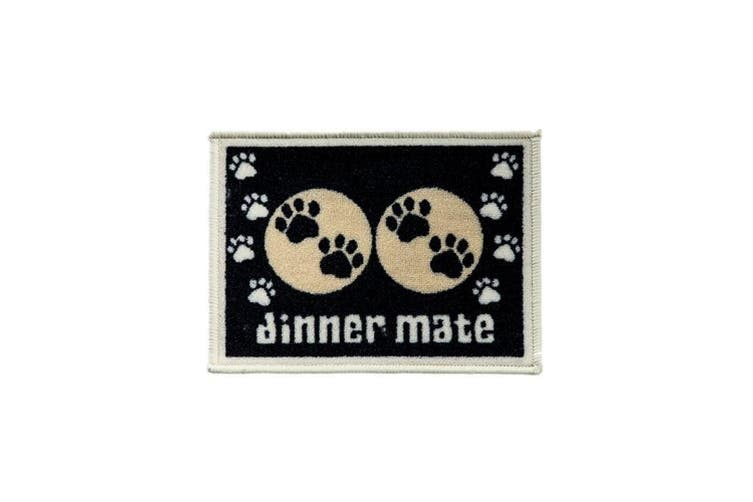 Pet Rebellion Dinner Mate Food Mat (Black) (30 x 40cm)