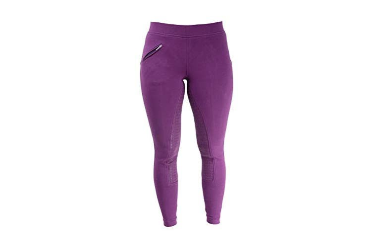 HyPERFORMANCE Womens/Ladies Hickstead Silicon Leggings (Purple) (24in)