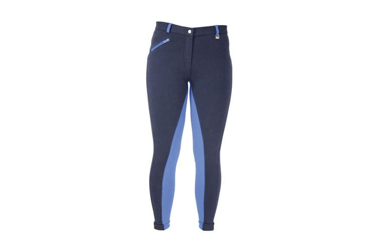 HyPERFORMANCE Womens/Ladies Manby Jodhpurs (Navy/Brilliant Blue) (24in)