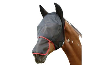 Equilibrium Field Relief Max Horse And Donkey Fly Mask With Ears (Grey/Blue) - UTBZ1881