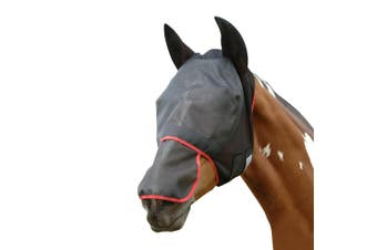 Equilibrium Field Relief Max Horse And Donkey Fly Mask With Ears (Black/Red) - UTBZ1881