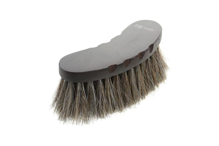 HySHINE Deluxe Half Round Brush With Horse Hair (May Vary) (One Size)